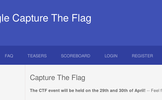 Google Capture The Flag 2016
