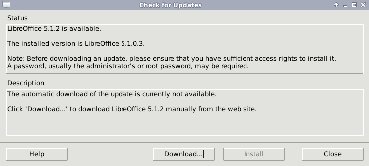 cara upgrade libre office 1