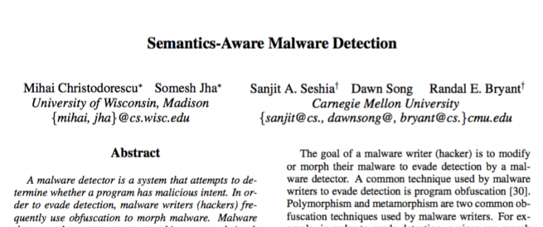 report on malware detection techniques Malware detection techniques malwares are worldwide epidemic and malware detection techniques (mdts) serve as first line of defense against them.