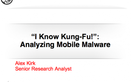 Analyzing Mobile Malware