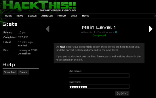 Hackthis - game Hacking seru