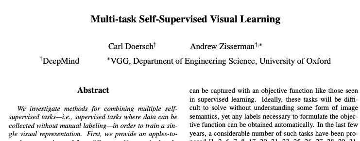Self-Supervised-Doersch-Paper review
