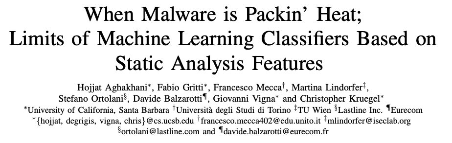 When Malware is Packin'Heat-Aghakhani-Review Paper