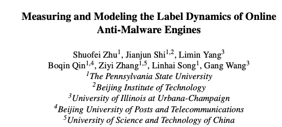 Measuring malware label dynamic-Zhu-Review Paper